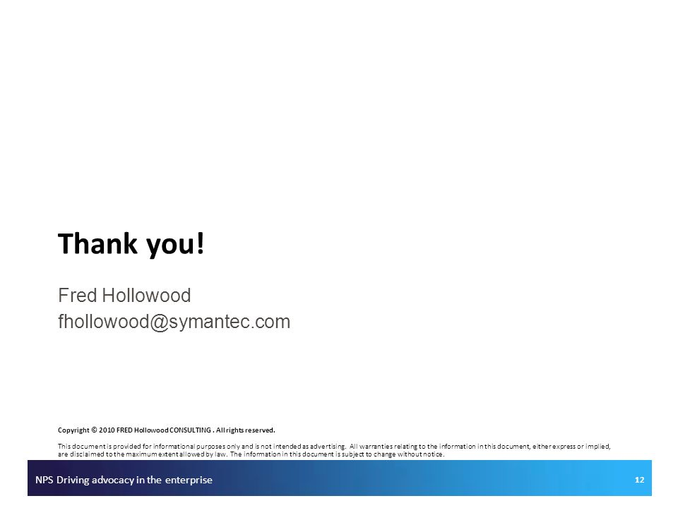 Fred Hollowood fhollowood@symantec.com