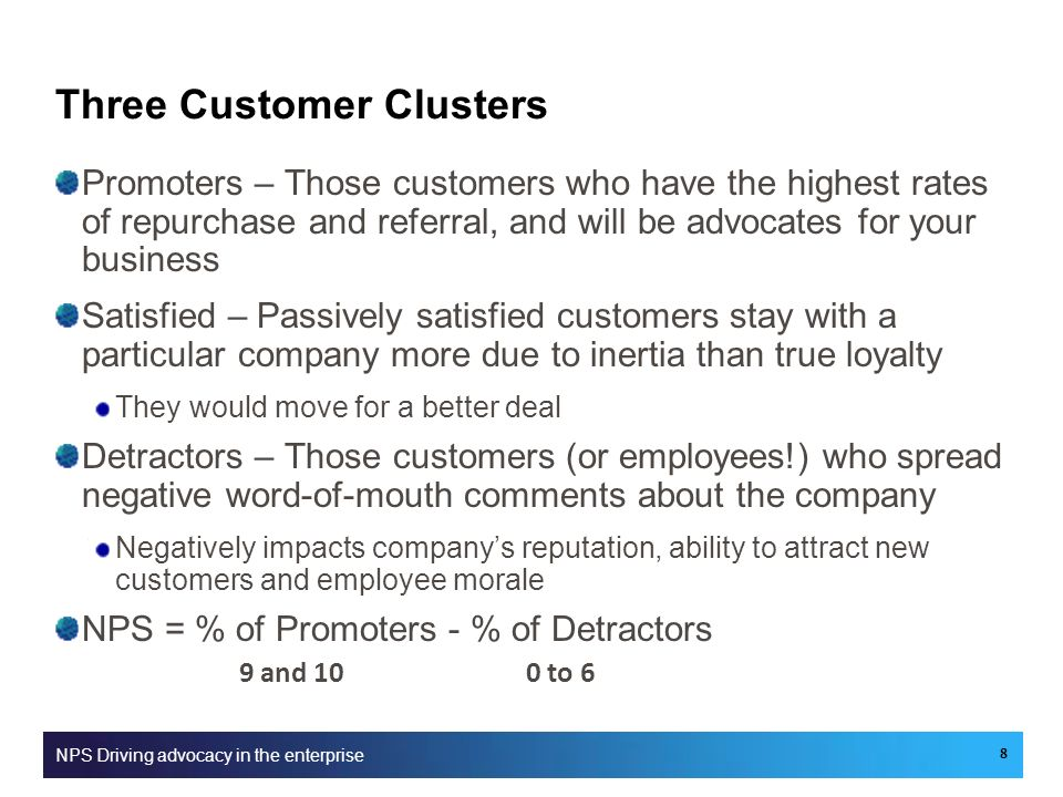 Three Customer Clusters