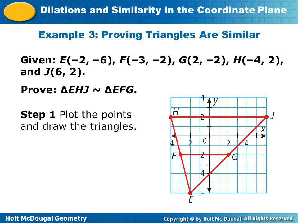 Example 3: Proving Triangles Are Similar