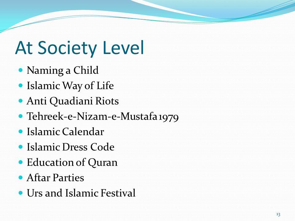 At Society Level Naming a Child Islamic Way of Life