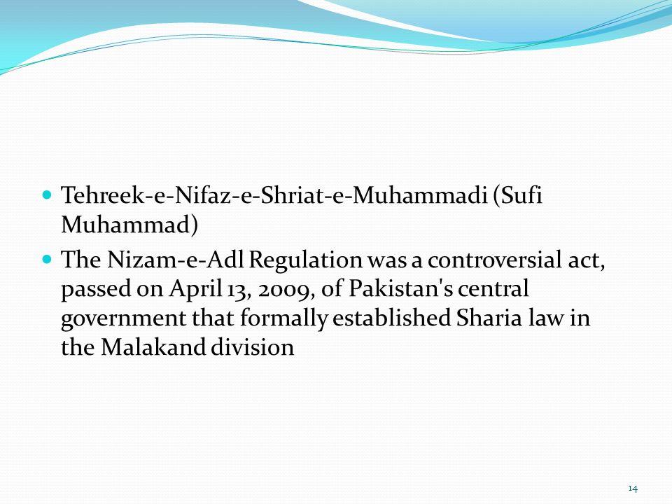 Tehreek-e-Nifaz-e-Shriat-e-Muhammadi (Sufi Muhammad)