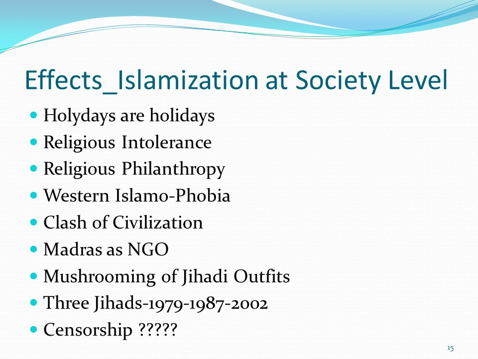 Effects_Islamization at Society Level