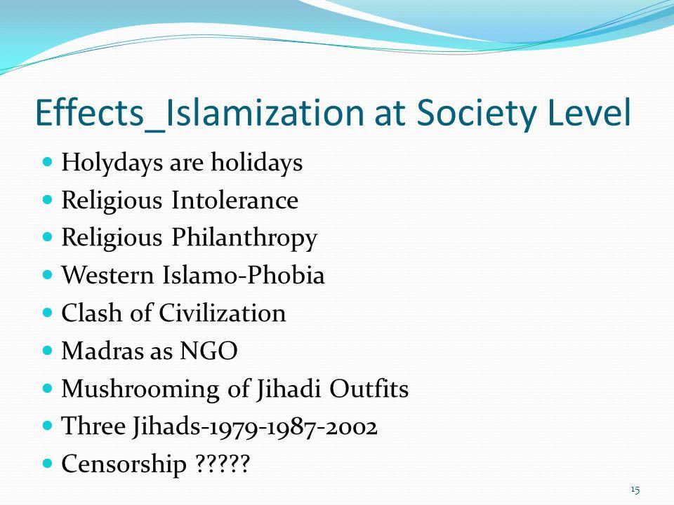 Effects_Islamization at Society Level