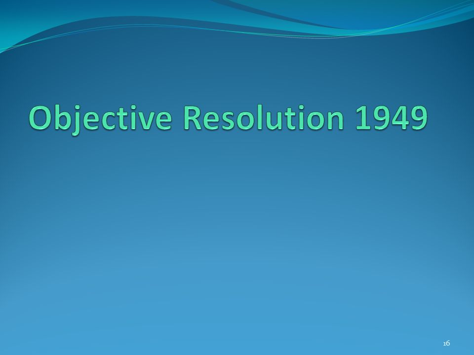 Objective Resolution 1949