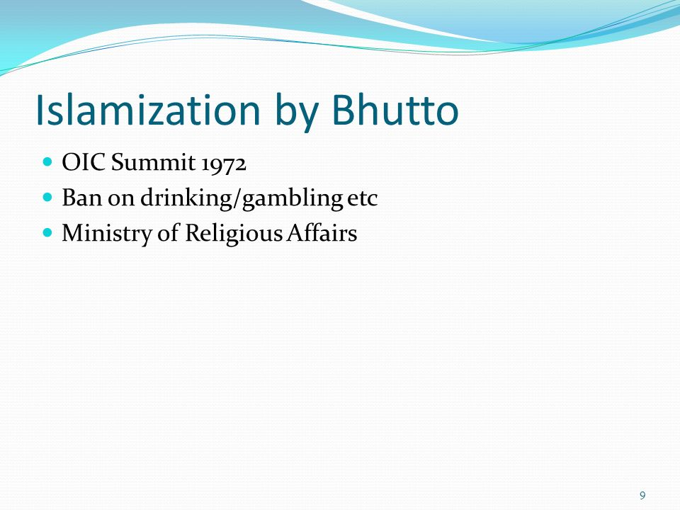 Islamization by Bhutto