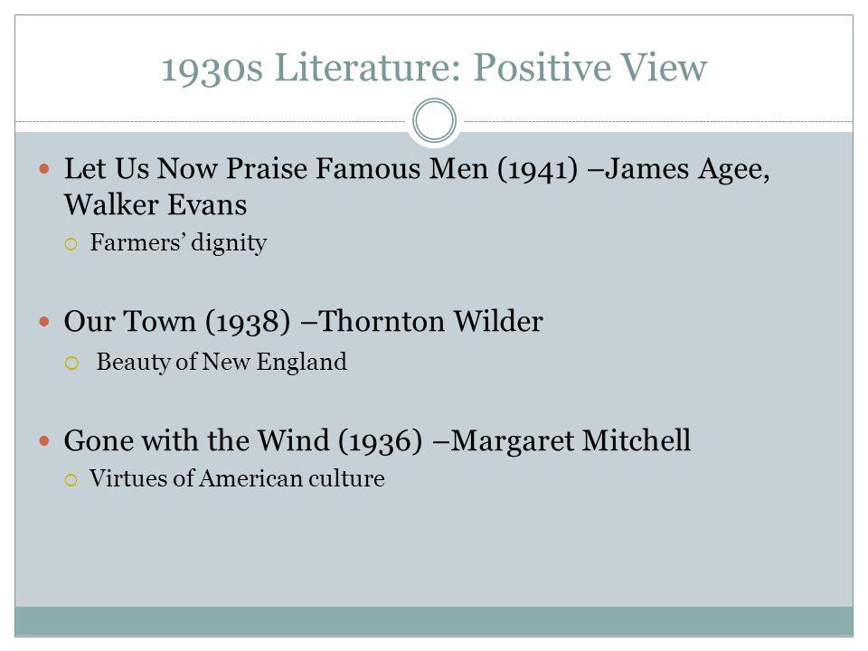 1930s Literature: Positive View