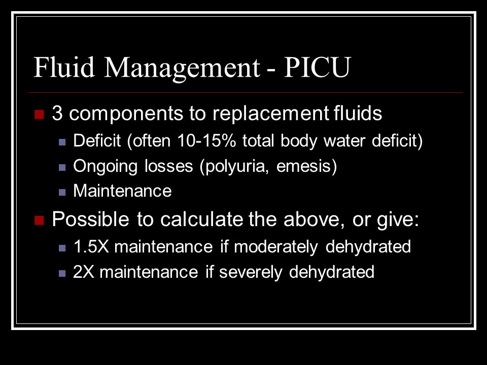 Fluid Management - PICU