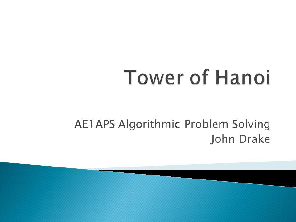 AE1APS Algorithmic Problem Solving John Drake
