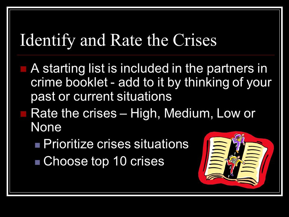 Identify and Rate the Crises