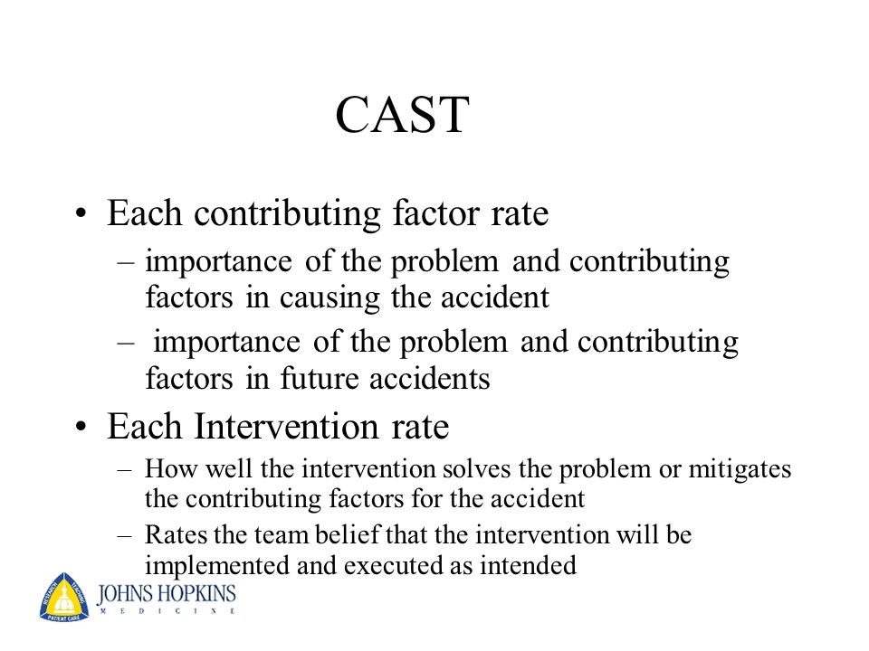 CAST Each contributing factor rate Each Intervention rate