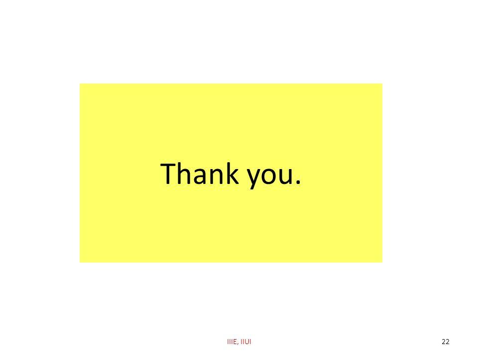Thank you. IIIE, IIUI
