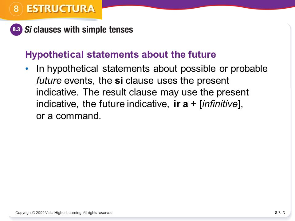 Hypothetical statements about the future