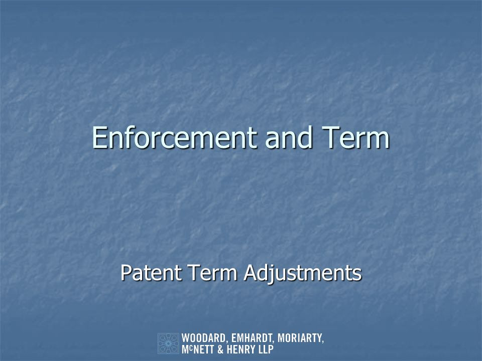 Patent Term Adjustments