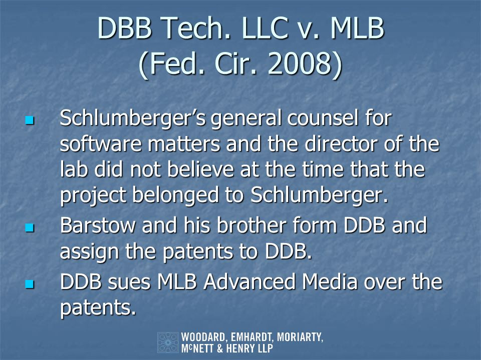 DBB Tech. LLC v. MLB (Fed. Cir. 2008)