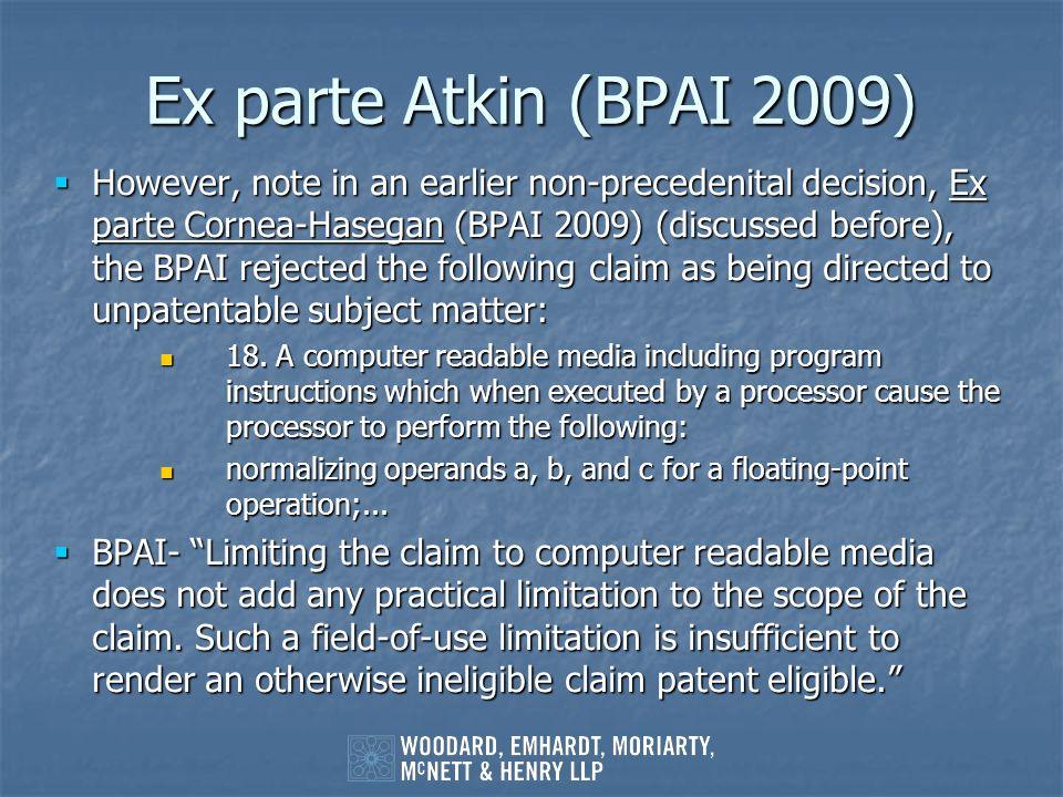 Ex parte Atkin (BPAI 2009)