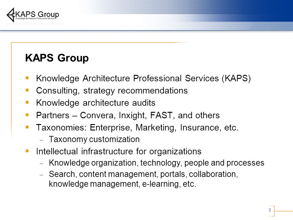 KAPS Group Knowledge Architecture Professional Services (KAPS)