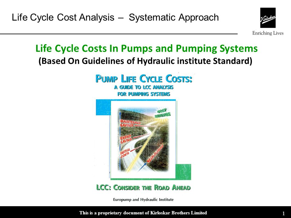 Life Cycle Costs In Pumps and Pumping Systems