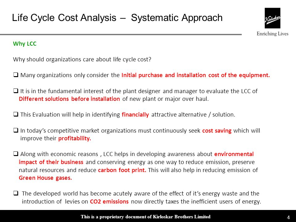Why LCC Why should organizations care about life cycle cost