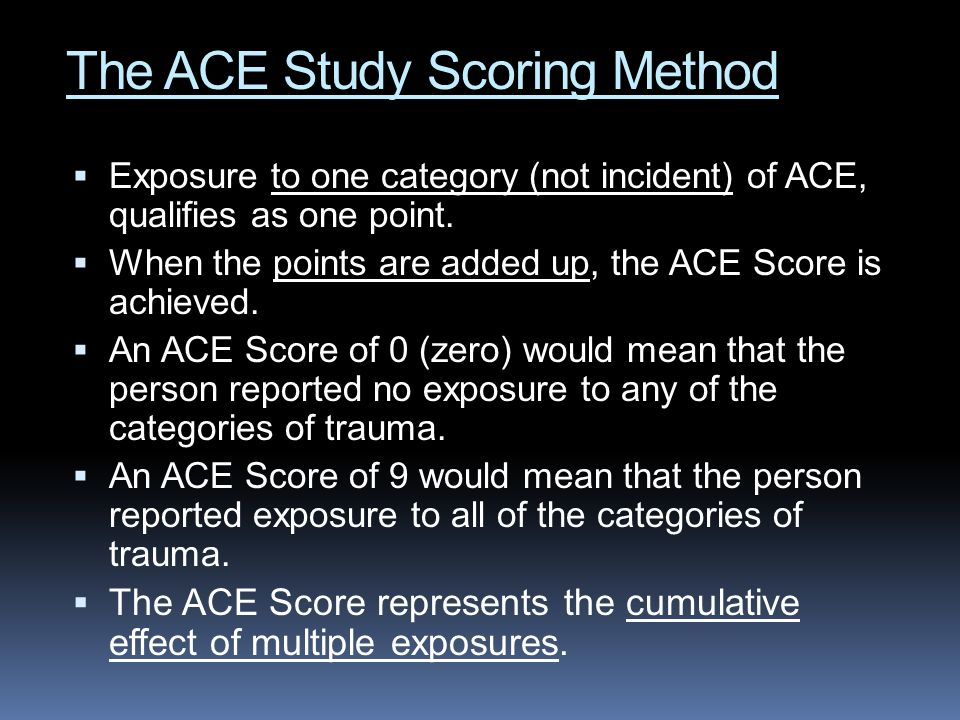 The ACE Study Scoring Method