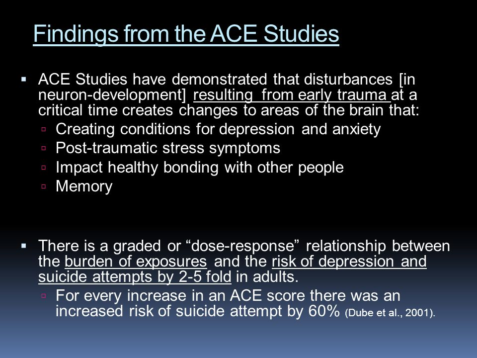 Findings from the ACE Studies