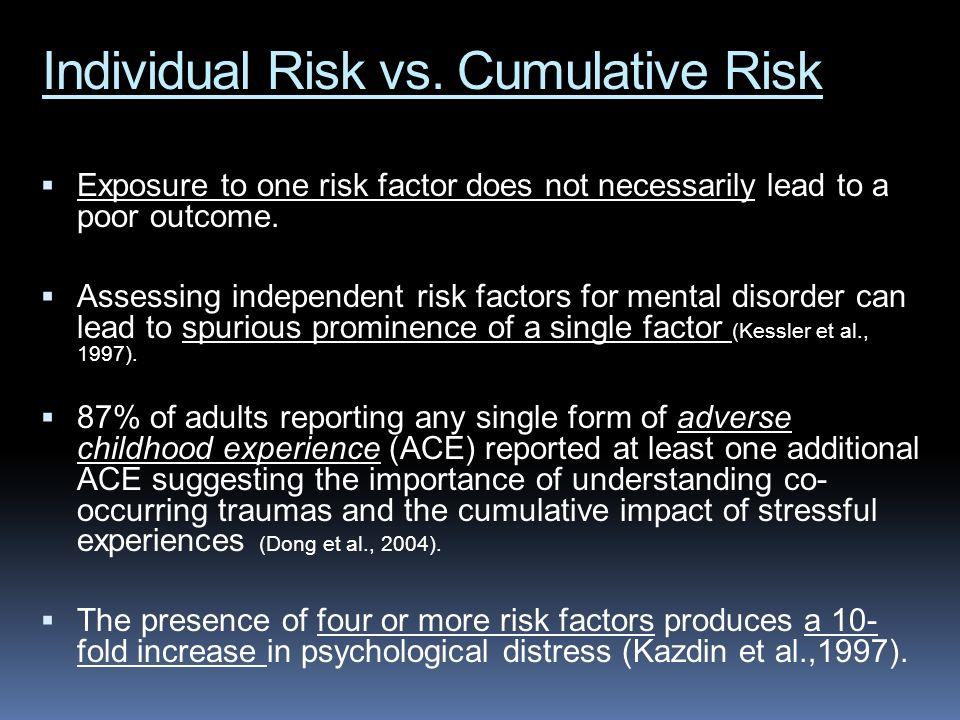 Individual Risk vs. Cumulative Risk