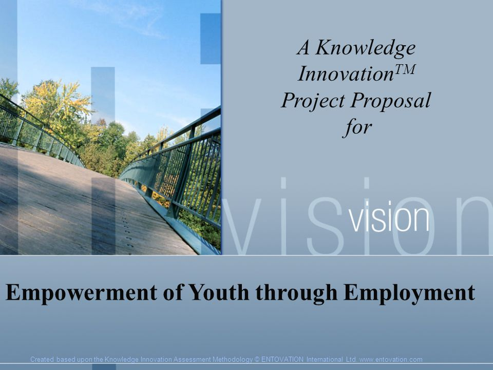 Vet youth innovators project proposal for
