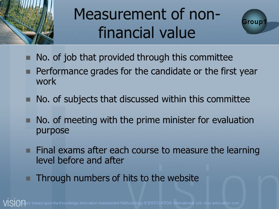 Measurement of non-financial value