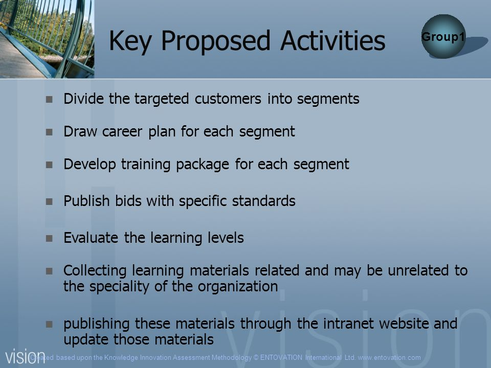 Key Proposed Activities