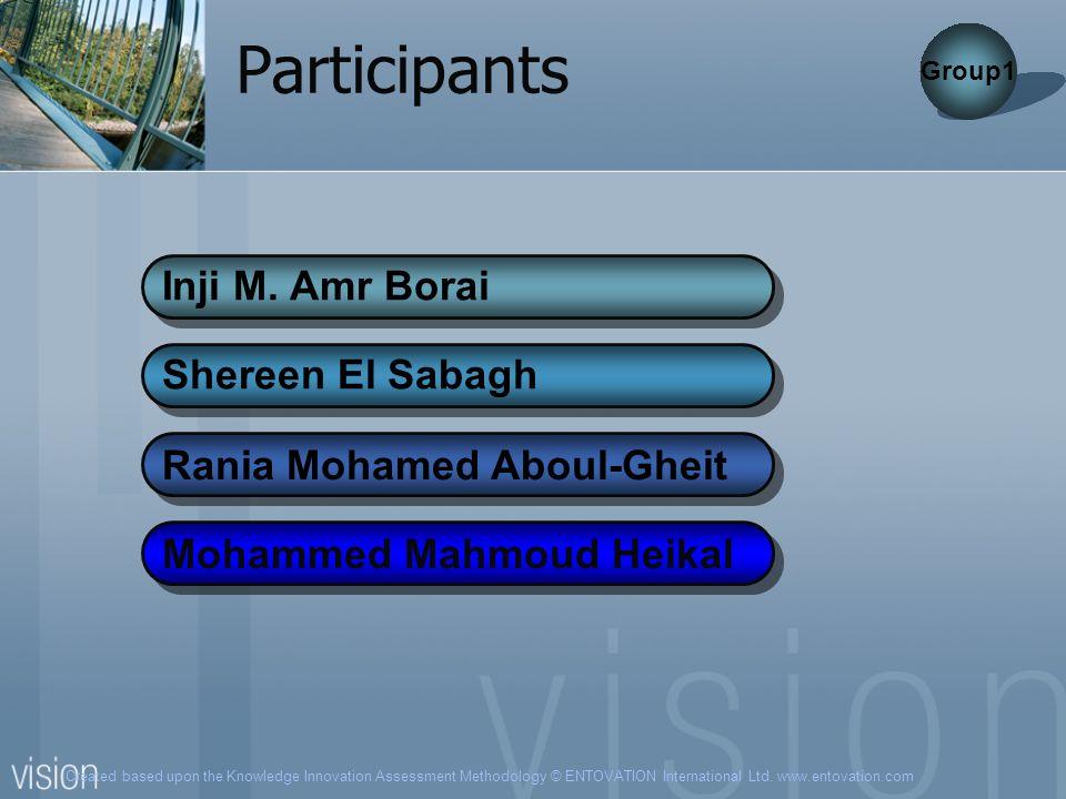 Participants Inji M. Amr Borai Shereen El Sabagh