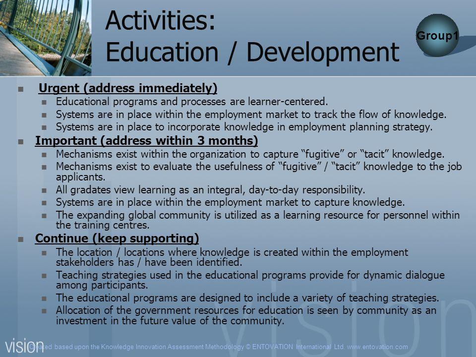 Activities: Education / Development