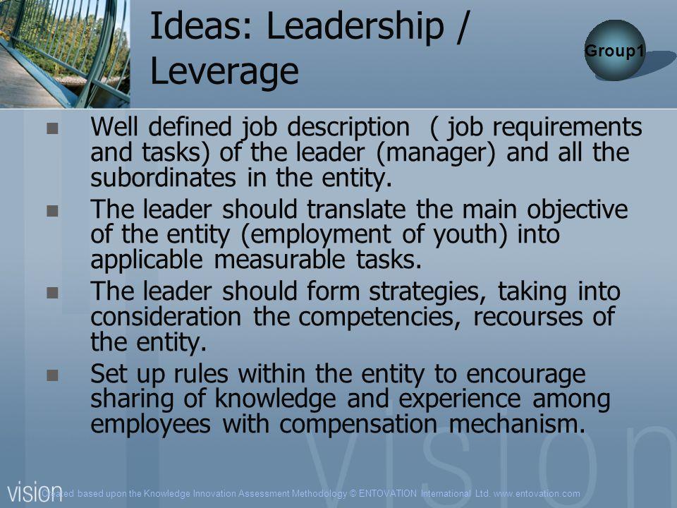 Ideas: Leadership / Leverage