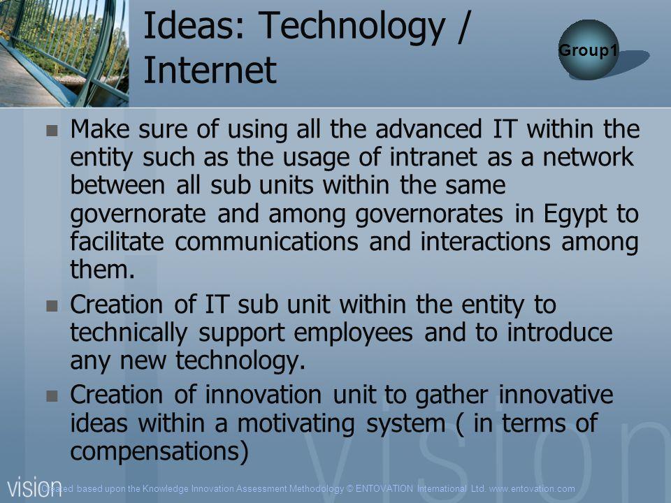 Ideas: Technology / Internet