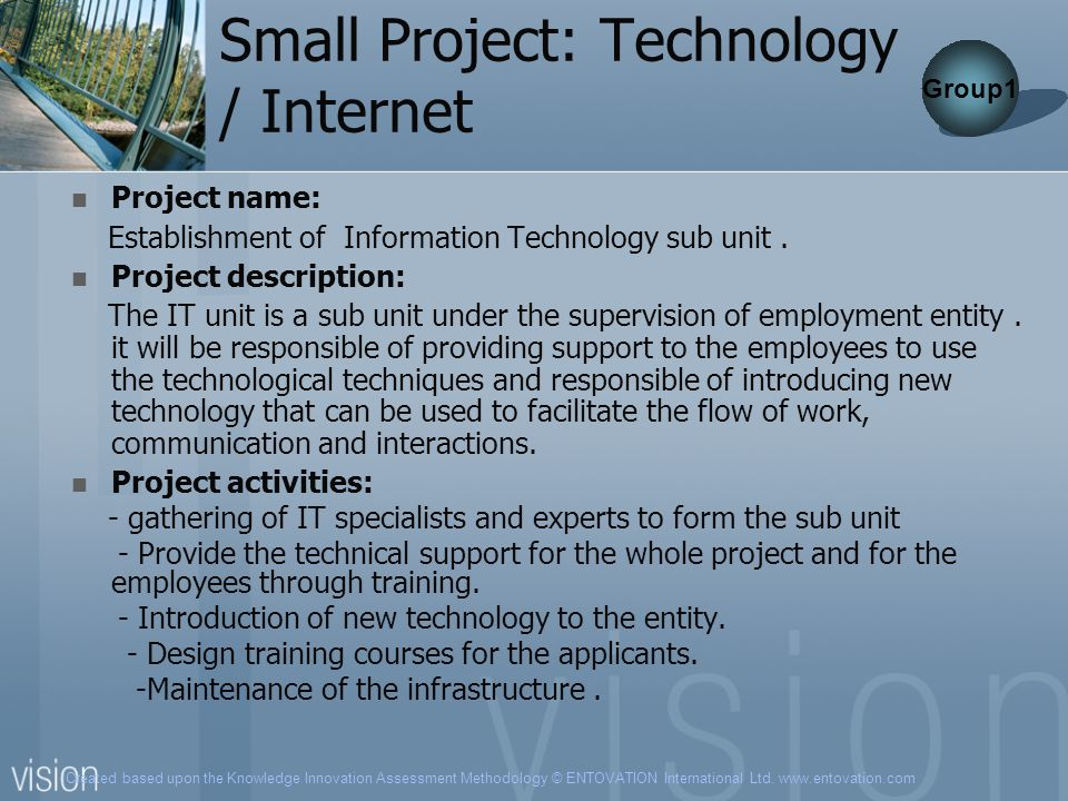 Small Project: Technology / Internet