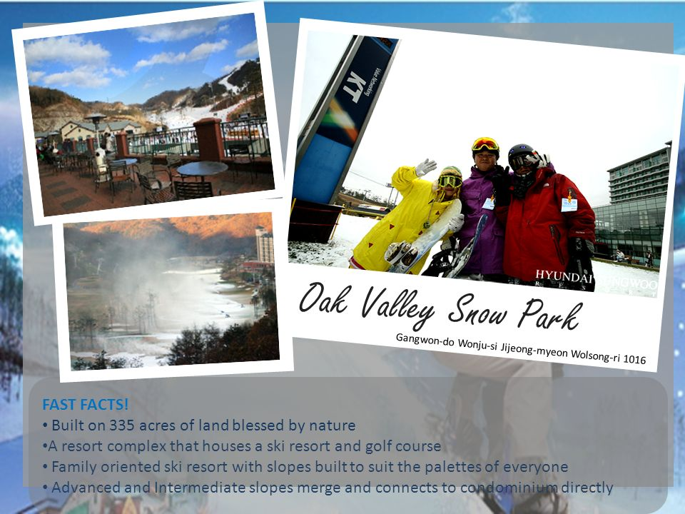 Oak Valley Snow Park FAST FACTS!