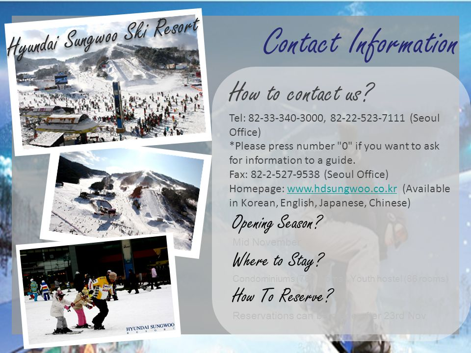 Hyundai Sungwoo Ski Resort