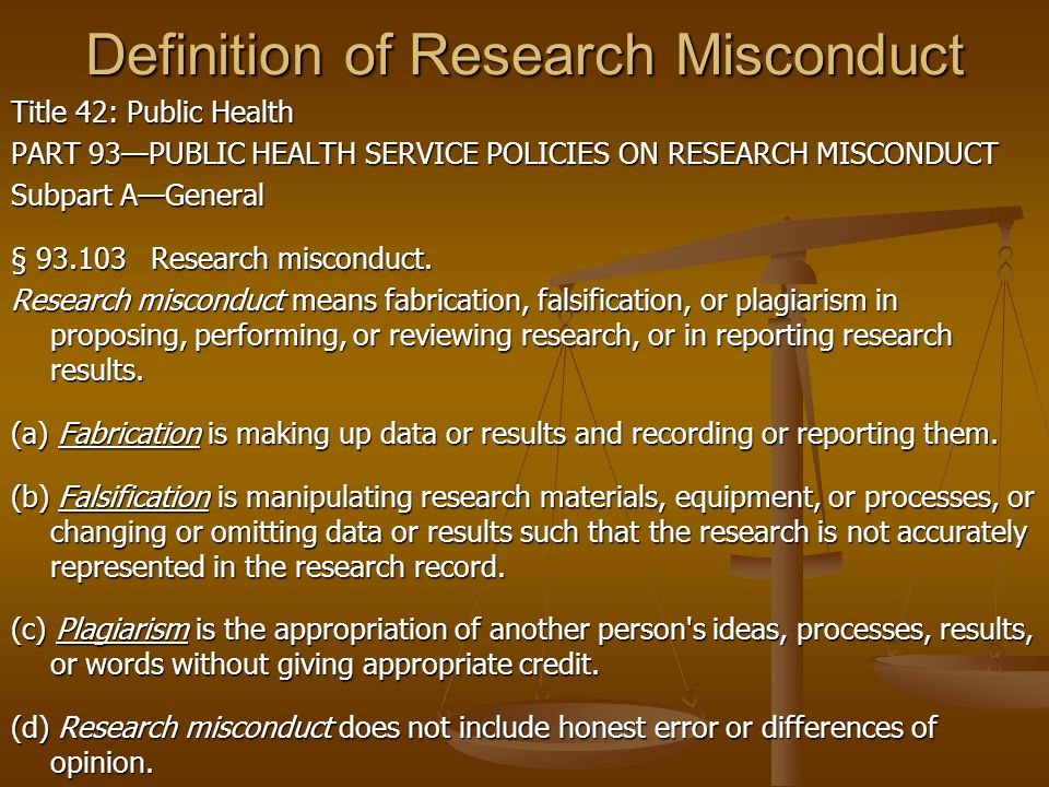 Definition of Research Misconduct