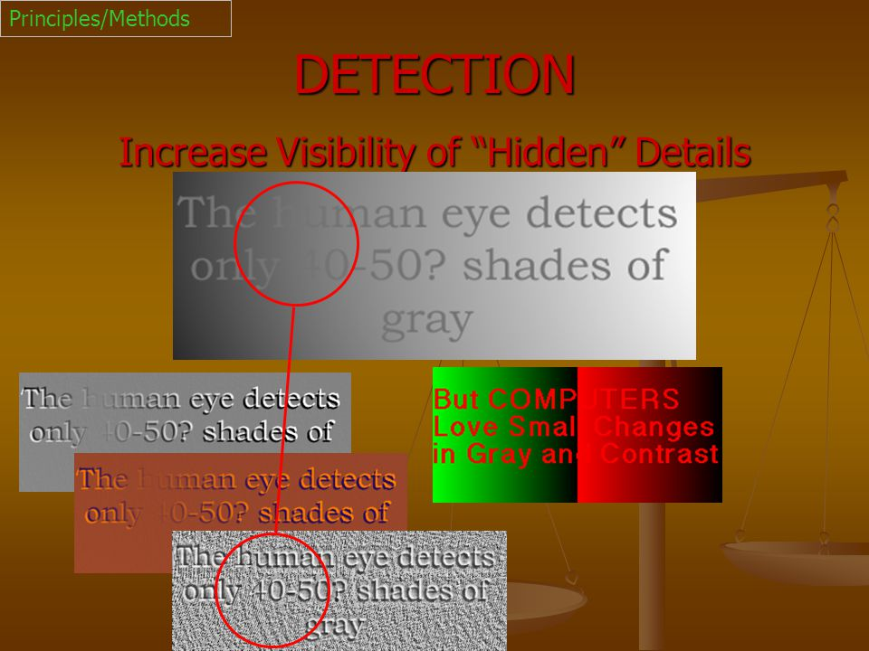 Increase Visibility of Hidden Details