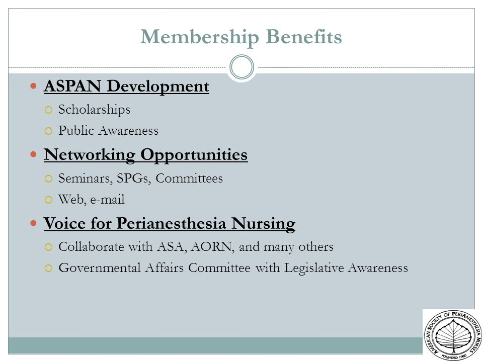 Membership Benefits ASPAN Development Networking Opportunities