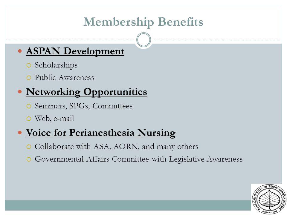 Membership Benefits ASPAN Development Networking Opportunities