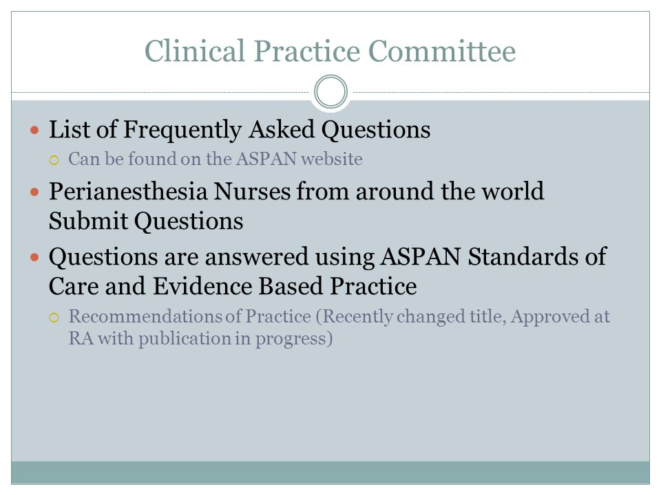 Clinical Practice Committee