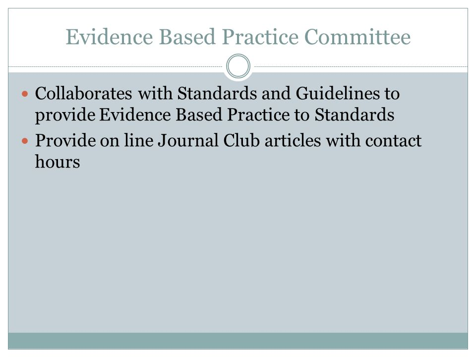 Evidence Based Practice Committee