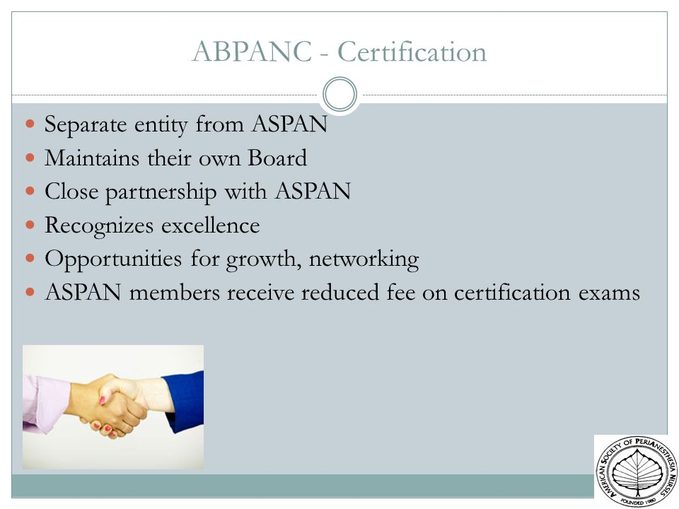ABPANC - Certification