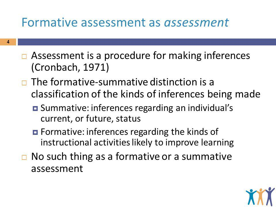 Formative assessment as assessment