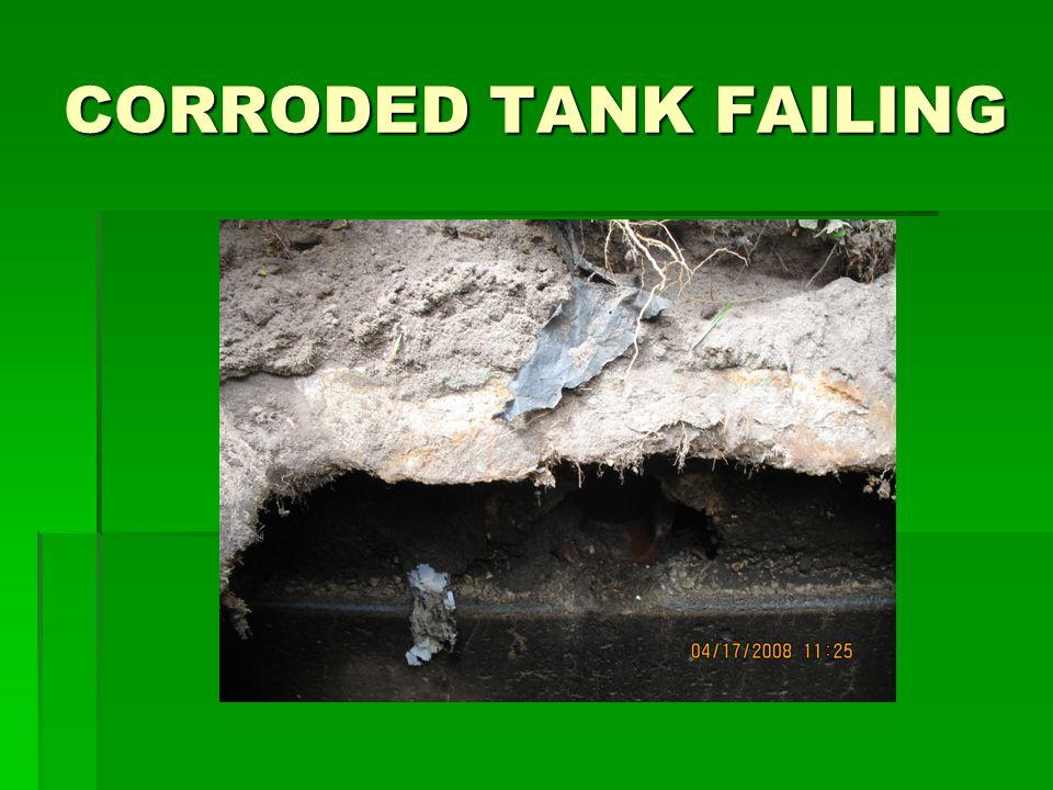 CORRODED TANK FAILING