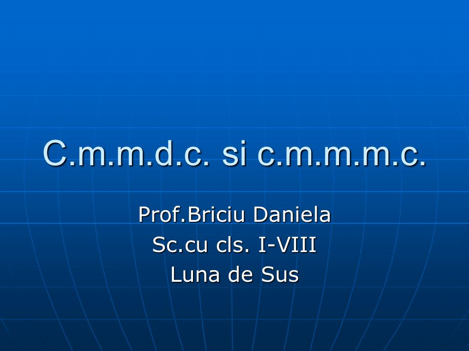 Prof.Briciu Daniela Sc.cu cls. I-VIII Luna de Sus