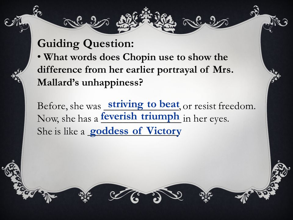Guiding Question: striving to beat feverish triumph goddess of Victory