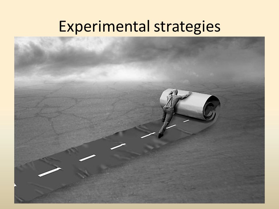 Experimental strategies