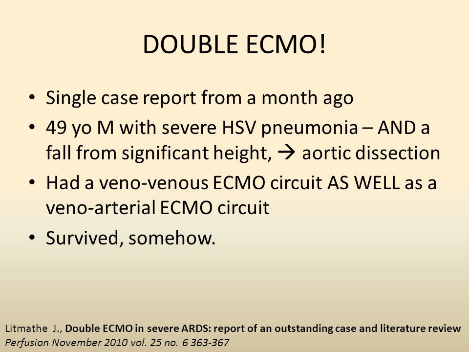 DOUBLE ECMO! Single case report from a month ago