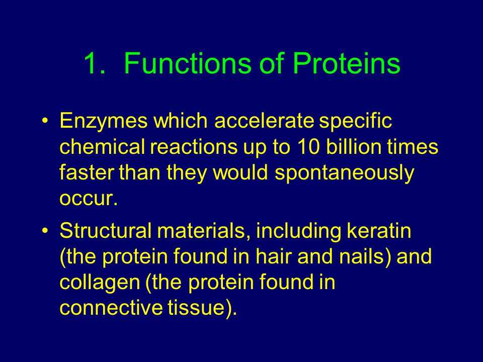 1. Functions of Proteins