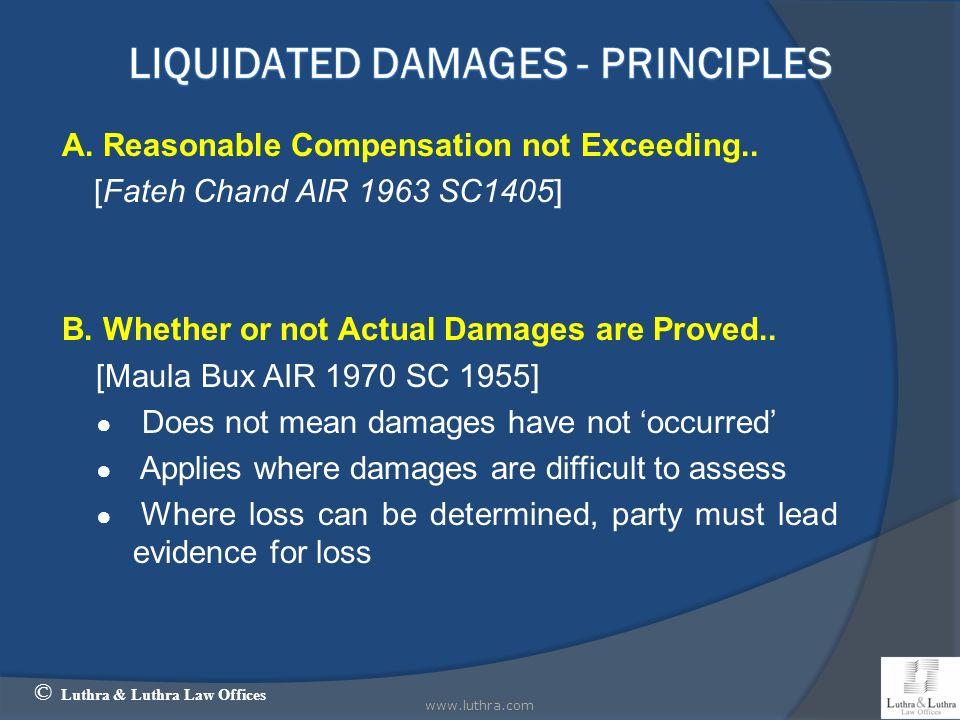 LIQUIDATED Damages - Principles
